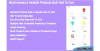 Woocommerce variable products bulk cart to add