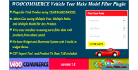 Woocommerce vehicle parts finder model make year