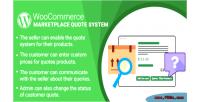Woocommerce wordpress marketplace plugin system quote
