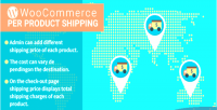 Woocommerce wordpress per plugin shipping product