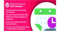 Woocommerce wordpress plugin manager event