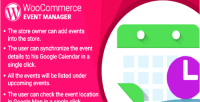 Woocommerce wordpress plugin manager event