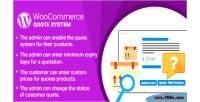 Woocommerce wordpress plugin system quote