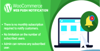 Woocommerce wordpress web plugin notification push