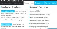 Wootabs lite related products tab extra posts