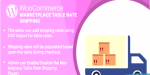Wordpress woocommerce marketplace table plugin shipping rate