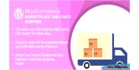Wordpress woocommerce marketplace table plugin shipping rate