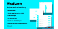 Wordpress wooevents calendar booking event and
