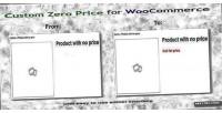 Zero custom woocommerce for price