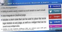 Wp e commerce social plugin wordpress login