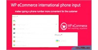 Ecommerce wp input phone international