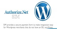 Sim authorize.net payment wordpress for form