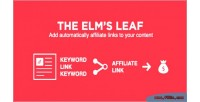 Elm leaf automatically add keywords to links elm