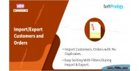 Export import customers woocommerce & in orders