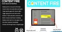 Fire content custom wordpress for ctas