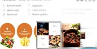 Foodmenu wp creative restaurant pack showcase menu