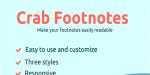 Footnotes crab