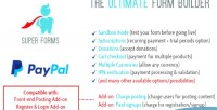 Forms super on add paypal