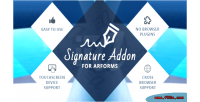 Addon signature for arforms