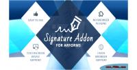 Addon signature for arforms