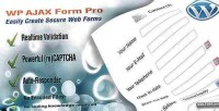 Wp ajax form pro builder form wordpress