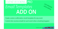 Booking event pro addon templates email