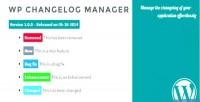 Changelog wp manager
