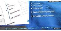 Comment custom field plugin wp creator