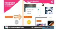 Comment wp videos & images
