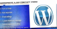 Ajax contact form with wordpress for tracking