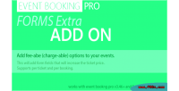 Event booking pro forms on add extra