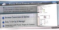 Exit easy popup wordpress for manager