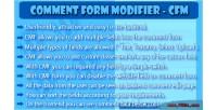 Form comment modifier cfm