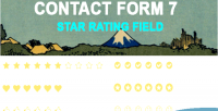 Form contact 7 field rating star