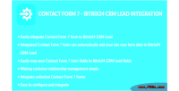 Form contact 7 integration bitrix24 lead crm