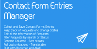 Form contact entries manager