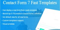 Form contact templates fast 7