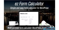 Form ez plugin wordpress calculator