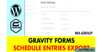 Forms gravity export entries schedule
