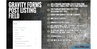 Forms gravity field listing post