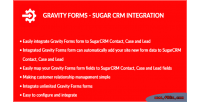 Forms gravity integration crm sugar