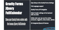 Forms gravity jquery fullcalendar