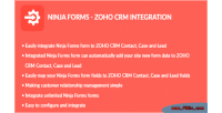 Forms ninja integration crm zoho