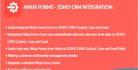 Forms ninja integration crm zoho