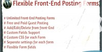 Front flexible forms posting end