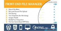 Frontend wordpress file manager