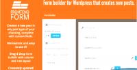 Frontend wordpress form
