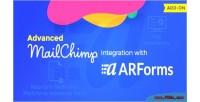 Mailchimp advanced arforms with integration