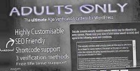 Adults only age verification wordpress for system