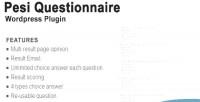 Questionnaire pesi multiresult & survey plugin wordpress quiz